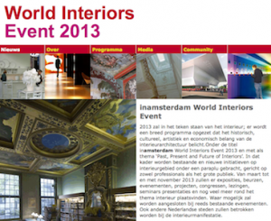 Presentation by Henri Snel at the World Interiors Event 2013 meeting in the temporary Stedelijk in Amsterdam.