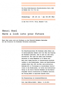 Lecture about Alzheimer and Architecture at the Burg Giebichenstein University of Art and Design Halle, Germany