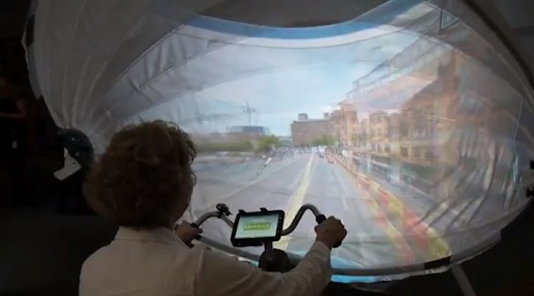 jDome opens the world for dementia patients: the virtual bicycle tour