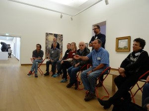Visiting the Stedelijk Museum with clients from the Odensehuis on: Vergeten Stedelijk Experience
