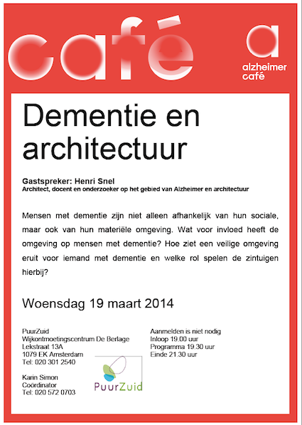 Henri Snel was lecturing at the Alzheimer-Cafe PuurZuid on the 19th of March