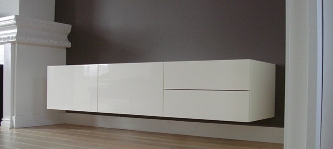 Design of a suspended wardrobe of a residence in Haarlem.