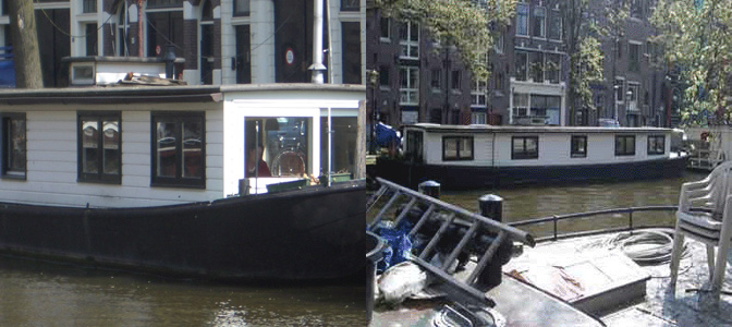 Houseboat in Amsterdam: renovation, re-design and building supervision