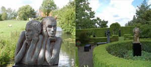 Renovation 'de Tienhof' gallery and sculpture garden in Tienhoven: design and building supervision.