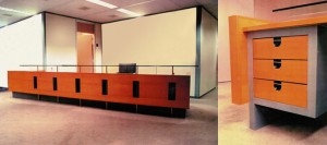 Fit-out law firm in Amsterdam. Design of reception and waiting areas.