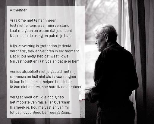Beautiful Alzheimer poetry (Dutch)