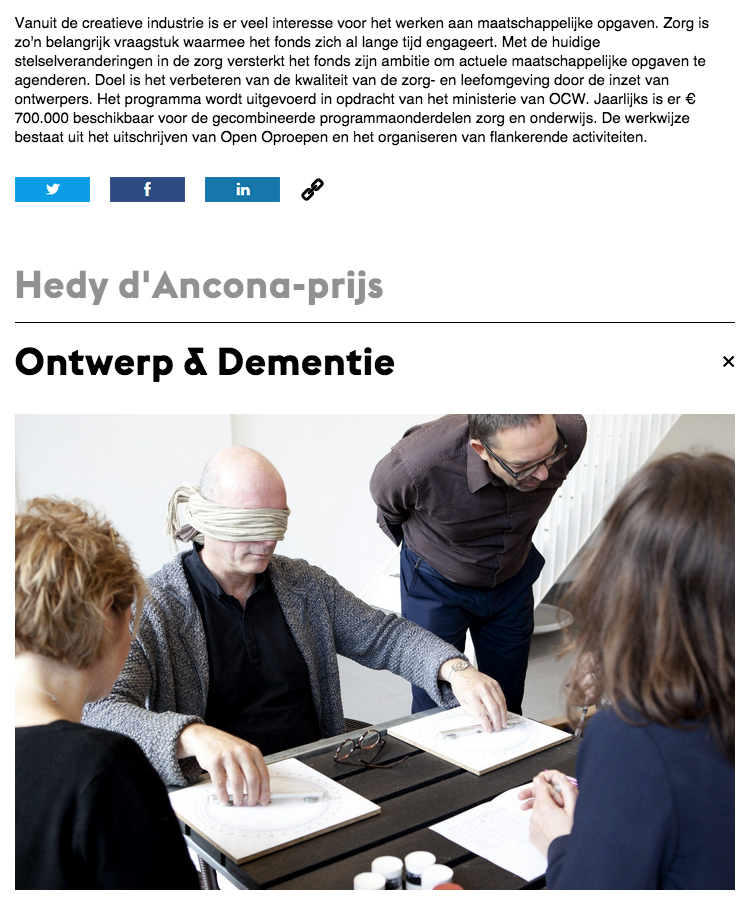 New Stimuleringsfonds website about 'the art and science of dementia care' (Dutch)