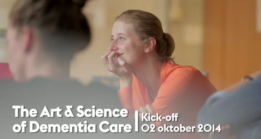 Eerste (video)beelden te zien van de kick-off van het onderzoeksproject: 'The Art and Science of Demetia Care' (Dutch)
