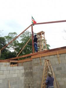 Eerste steen voor de stichting Wiesje in Paramaribo (Dutch)