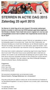 STERREN IN ACTIE DAG 2015, lezing van Henri Snel over Alzheimer en Architectuur voor de vrijwillige organisatie Stichting de Ster (Dutch)