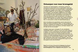 Ontwerpen voor meer levensgeluk met dementie, in het jaarverslag 2014 van het Stimuleringsfonds Creatieve Industrie (Dutch)