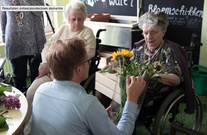 Eerste resultaten ontwerp onderzoek project tijdens een expert meeting op de Dutch Design Week (DDW): 'The Art and Science of Dementia Care' (2015)