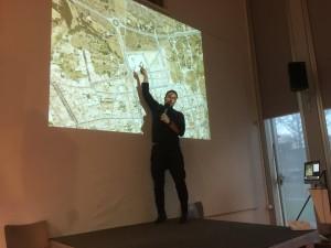 Lezing van Henri Snel tijdens de winterlab bij ARTEZ, kunstacademie in Zwolle (Dutch)