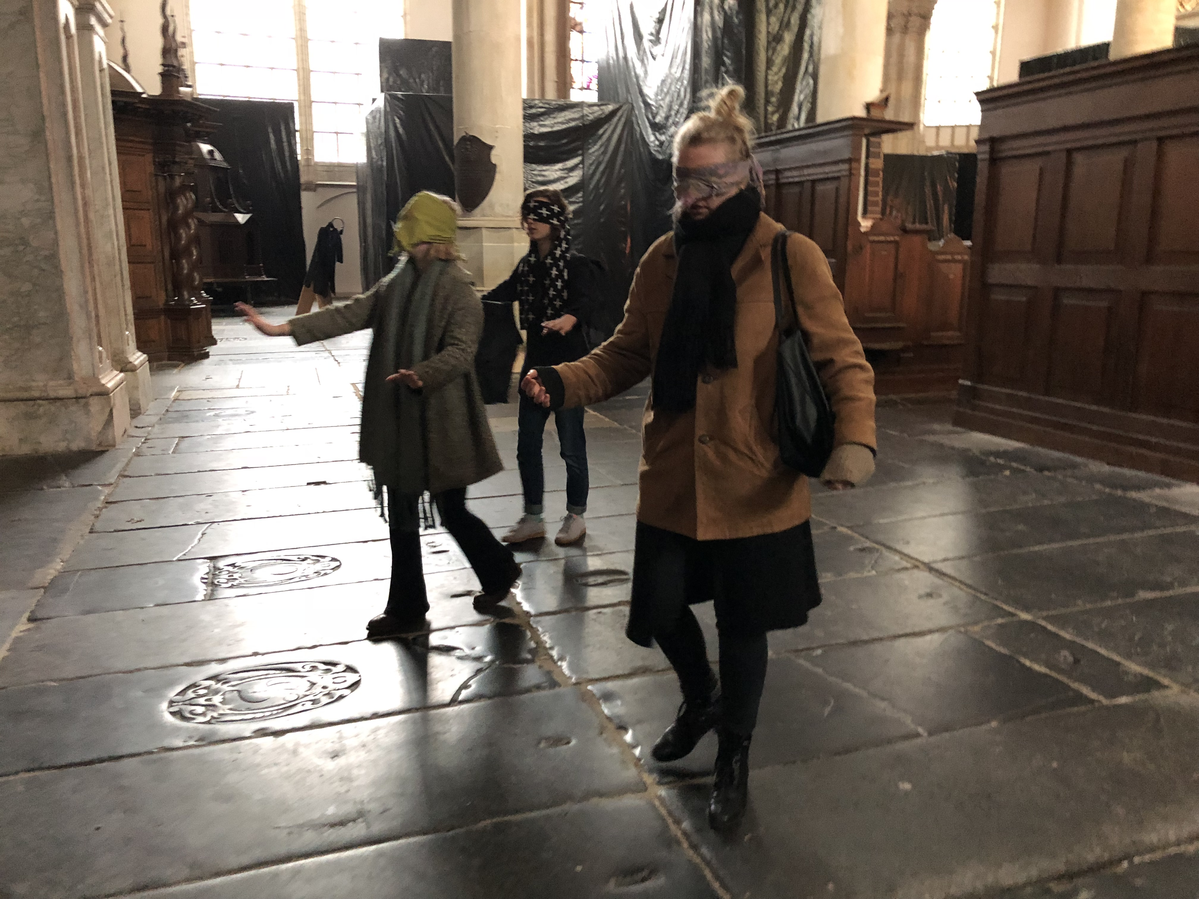 'Haptic' workshop with students from the Theaterschool in Amsterdam (2018)