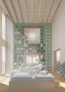 Christiaan Schuit's afstudeerproject 'van kamer tot kamer', gaat over een nieuwe inclusieve woonomgeving met aandacht voor mensen met dementie en hun naasten (Dutch)